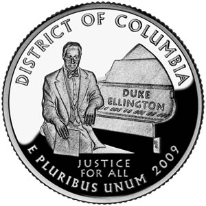 The D.C. quarter was minted in 2009.