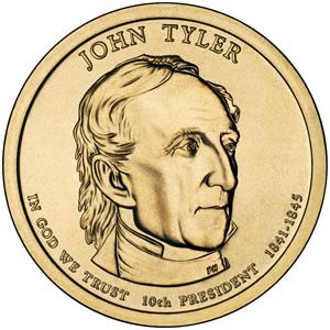 John Tyler Presidential $1 coin
