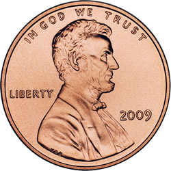 Lincoln Penny, Obverse