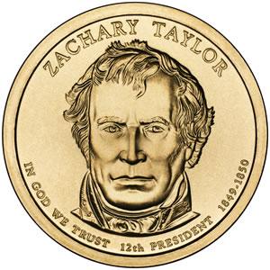 Zachary Taylor Presidential $1 coin