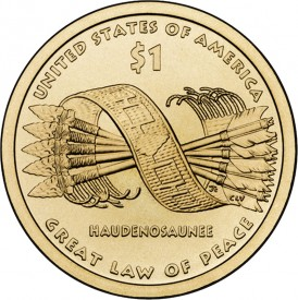 2010 Native American $1 Coin - Reverse Side (Click to Enlarge)