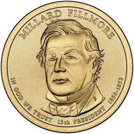Millard Fillmore Presidential $1 Dollar Coin - Click to Enlarge