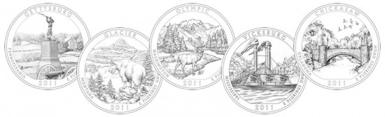 2011 America the Beautiful Quarters Designs
