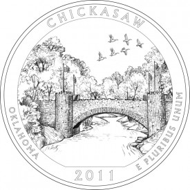 2011 Chickasaw National Recreation Area Quarter Design