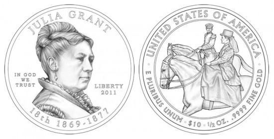 Julia Grant First Spouse Gold Coin Designs