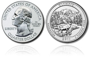 Olympic National Park Coin