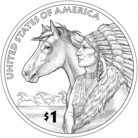 2012 Native American $1 Coin Reverse Design