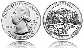 Olympic National Park Five Ounce Silver Uncirculated Coin