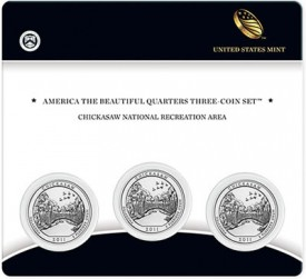 Chickasaw National Recreation Area Quarter Three-Coin Set