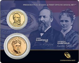 Garfield Presidential $1 and First Spouse Medal Set
