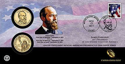 James Garfield Presidential Dollar Coin Cover