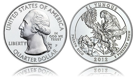 2012-P El Yunque Five Ounce Silver Uncirculated Coin