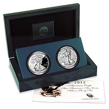 2012 San Francisco Proof Silver Eagle Two-Coin Set