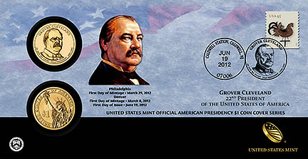 Grover Cleveland First Term Presidential Dollar Coin Cover