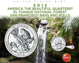 U.S. Mint image of the SF Mint El Yunque Quarters