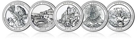 2012-P America the Beautiful Five Ounce Silver Uncirculated Coins