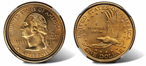 Sacagawea Dollar / Washington Statehood quarter mule error