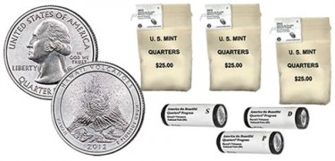 Hawaii Volcanoes Quarters in Rolls and Bags