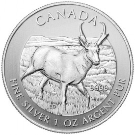 2013 Canadian Pronghorn Antelope Silver Bullion Coin
