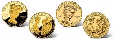 2012 Frances Cleveland  First Spouse Gold Coins for First Term