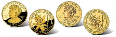 2012 Caroline Harrison First Spouse Gold Coins