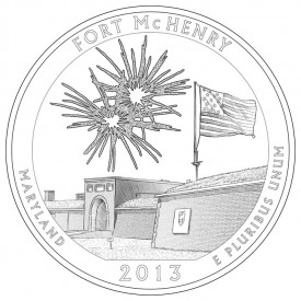 Fort McHenry National Monument and Historic Shrine Coin Design
