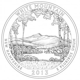 White Mountain National Forest Coin Design
