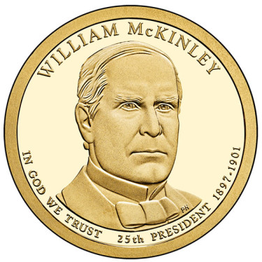 2013 William McKinley Presidential $1 Coin - Proof, Obverse Side
