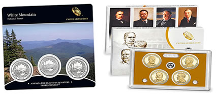 White Mountain 3-Coin Set, Presidential $1 Coin Set