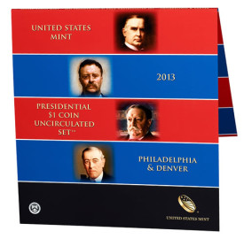 2013 Presidential $1 Coin Uncirculated Set