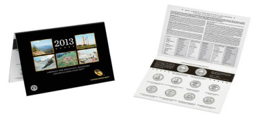 America the Beautiful Quarters Uncirculated Coin Set for 2013