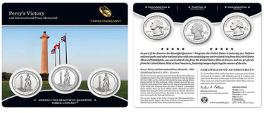 Perry's Victory and International Peace Memorial Quarters Three Coin Set