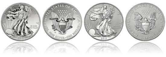 2013 American Eagle Two-Coin Silver Set from West Point