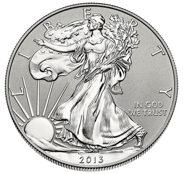 2013-W Reverse Proof American Eagle Silver Coin - Obverse