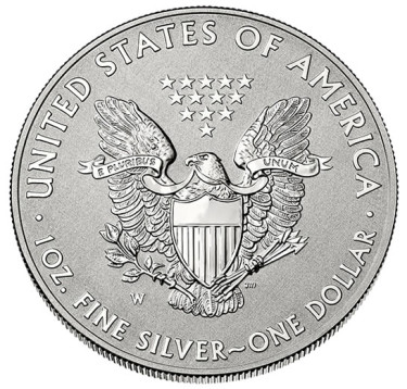 2013-W Reverse Proof American Eagle Silver Coin - Reverse