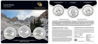 Great Basin Quarters Three-Coin Set for Collectors