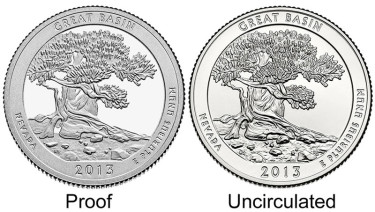 Proof and Uncirculated Great Basin Quarters