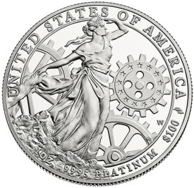 Reverse of the 2013 American Platinum Eagle Proof Coin