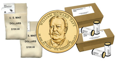William Howard Taft Presidential Dollars in Rolls, Bags and Boxes