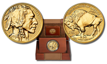 2013 Reverse Proof American Buffalo Gold Coin (Obverse and Reverse Side) and Case