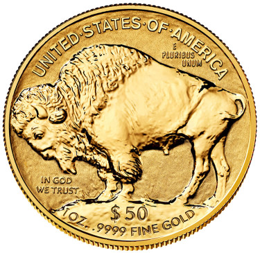 2013-W $50 Reverse Proof American Buffalo Gold Coin - Reverse Side