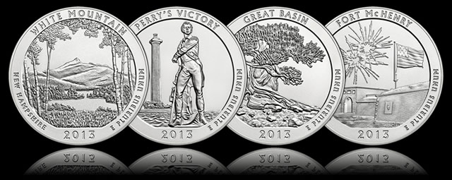 2013  PDS Ft McHenry ATB Quarter sets 10 Coins//each Mint Roll-30 total coins
