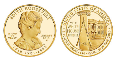 Edith Roosevelt First Spouse Gold Coins