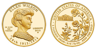 Ellen Wilson First Spouse Gold Coins
