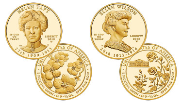 Helen Taft and Ellen Wilson First Spouse Gold Coins