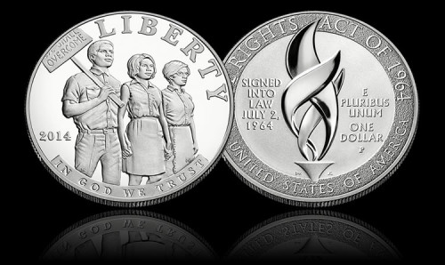2014 Civil Rights Act of 1964 Commemoraive Coin - Proof