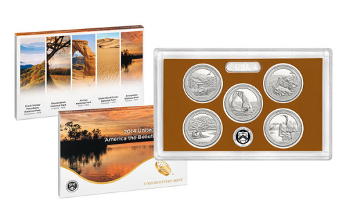 2014 United States Mint America the Beautiful Quarters Proof Set